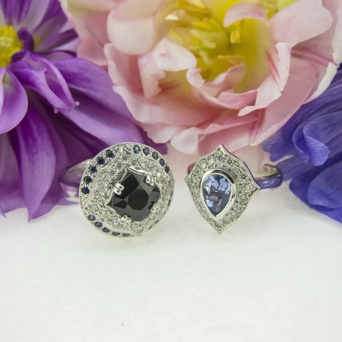 Hand made engagement rings, dress rings