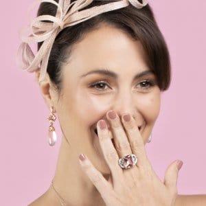 Emerald Cut Moreganite Gatsby Ring