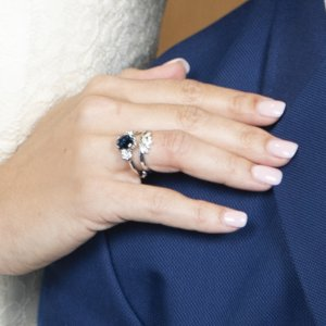 Sapphire Diamond Engagment Ring