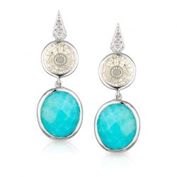 Amazonite Labadorite Drop Earrings