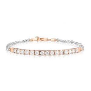 Rose White Bar Bracelet
