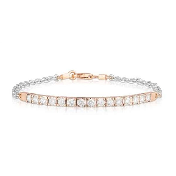 Rose White Bar Bracelet