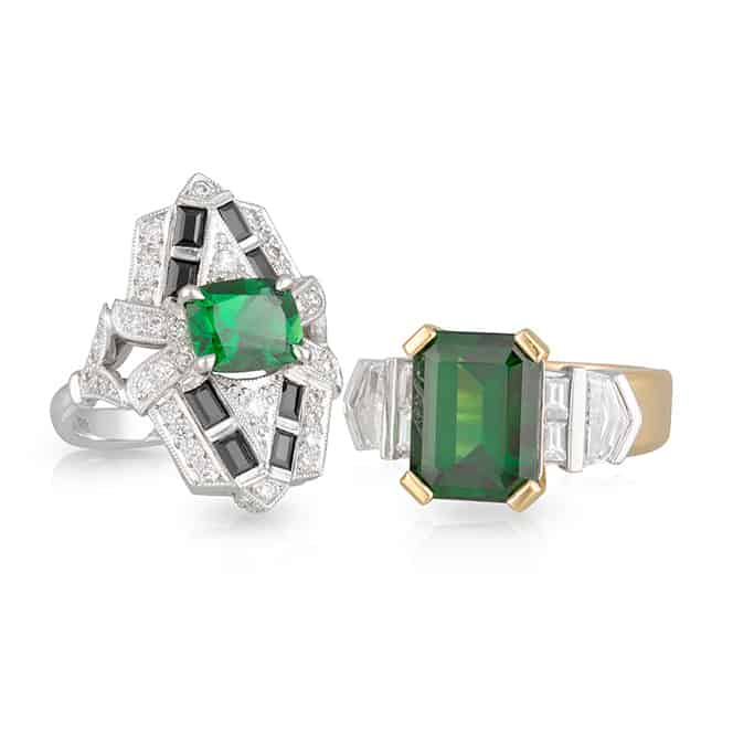 Green Black Ring Stack