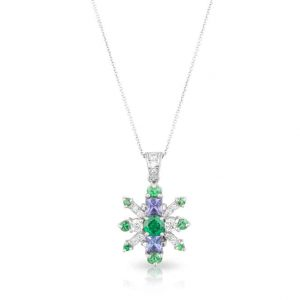 Green Blue Deco Necklace