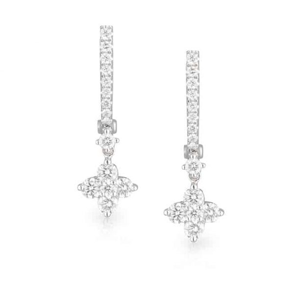 Snowflake Drop Earrings