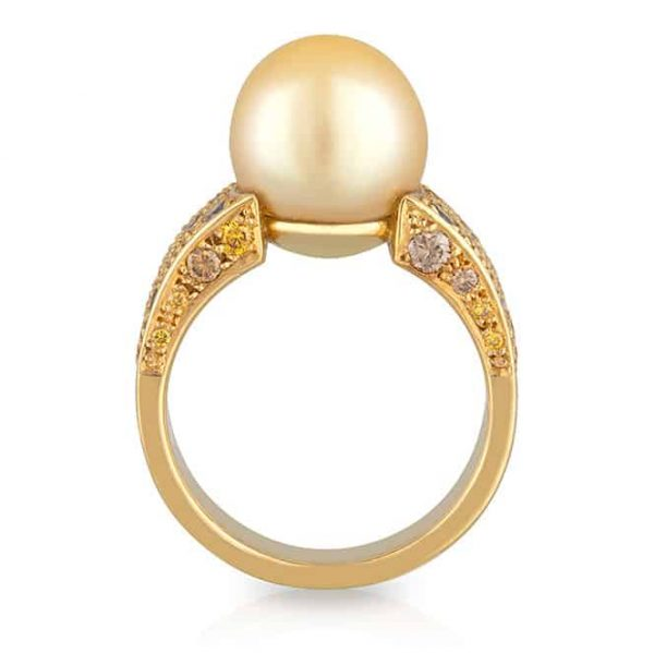 Yellow Pearl Ring