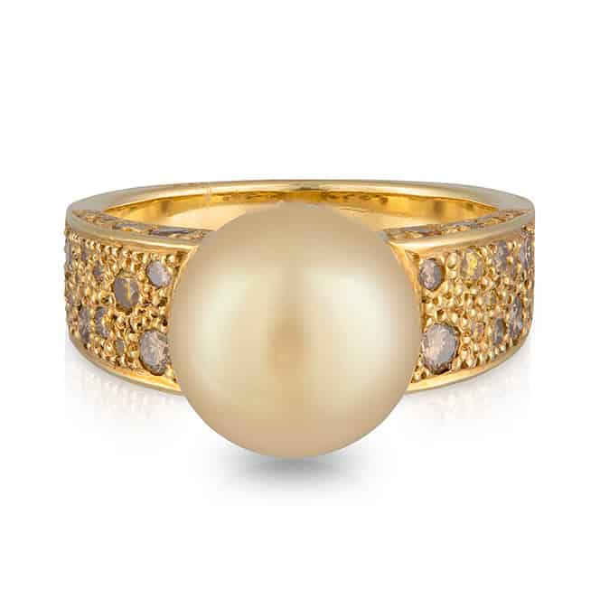 Yellow Pearl Ring