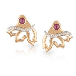 Rose Gold Wing Earrings