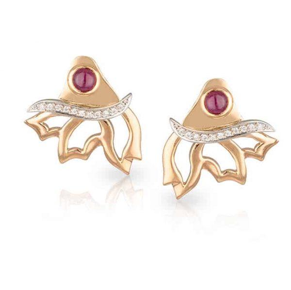 Rose Gold Wing Earrings