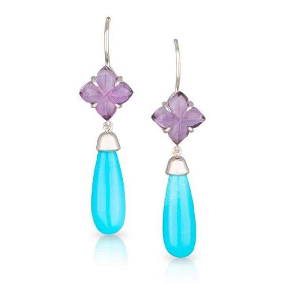 Purple Blue Clover Drops