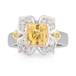 Yellow Ceylon Sapphire Ring