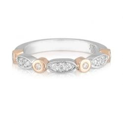 Rose Gold Marquise White Gold Wedder