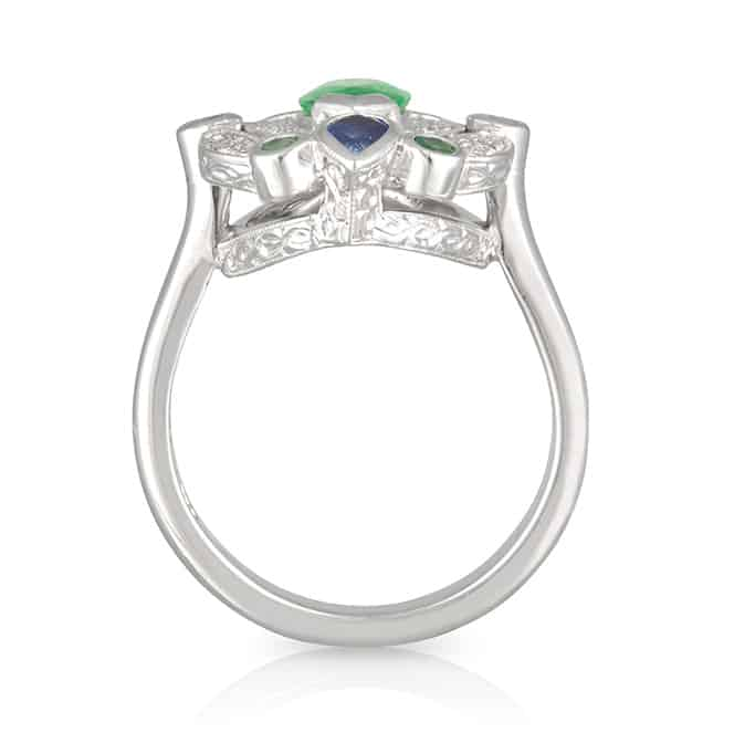 Tsavorite Sapphire Ring