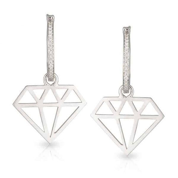 Diamond Cut Out Diamond Drops