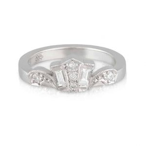 Tiara Wedder White Gold Baguette