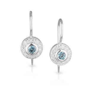 Aquamarine Diamond Halo Drops