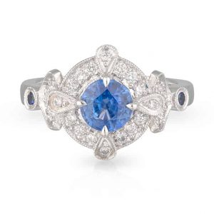 Tanzanite Art Deco Ring