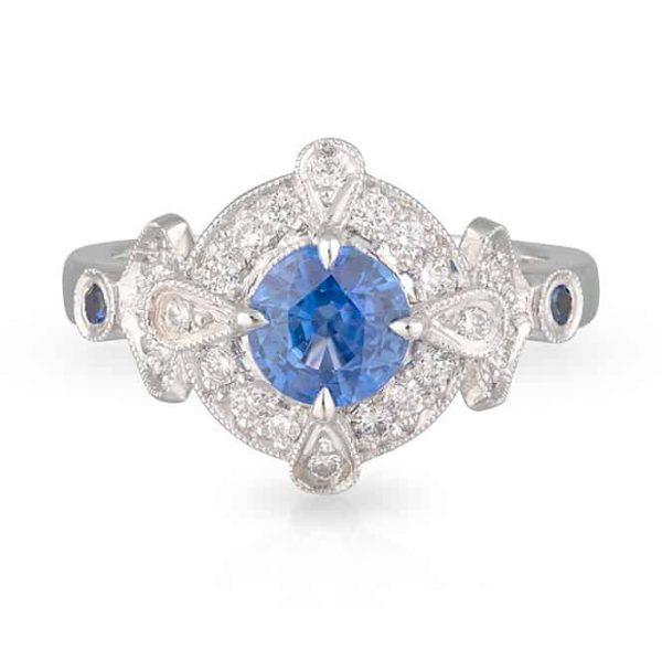 Tanzanite Art Deco Ring