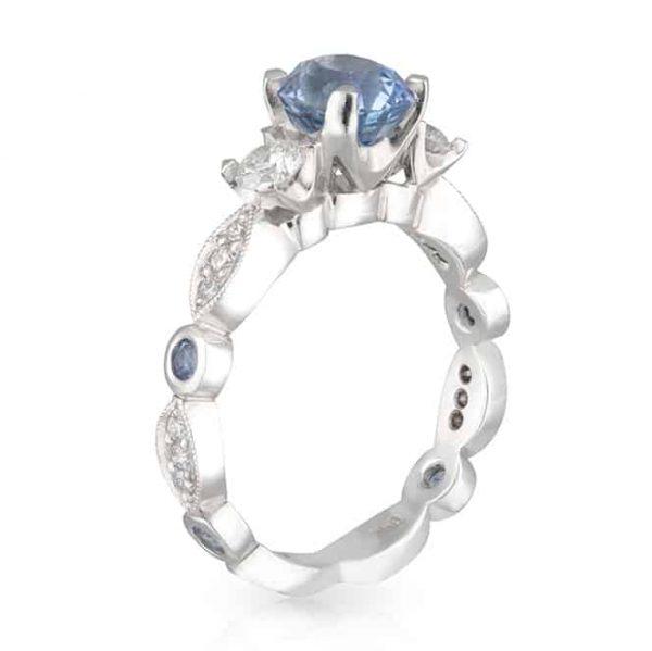 Sapphire Art Deco Ring