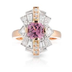 Pink Spinel Sunrise Ring