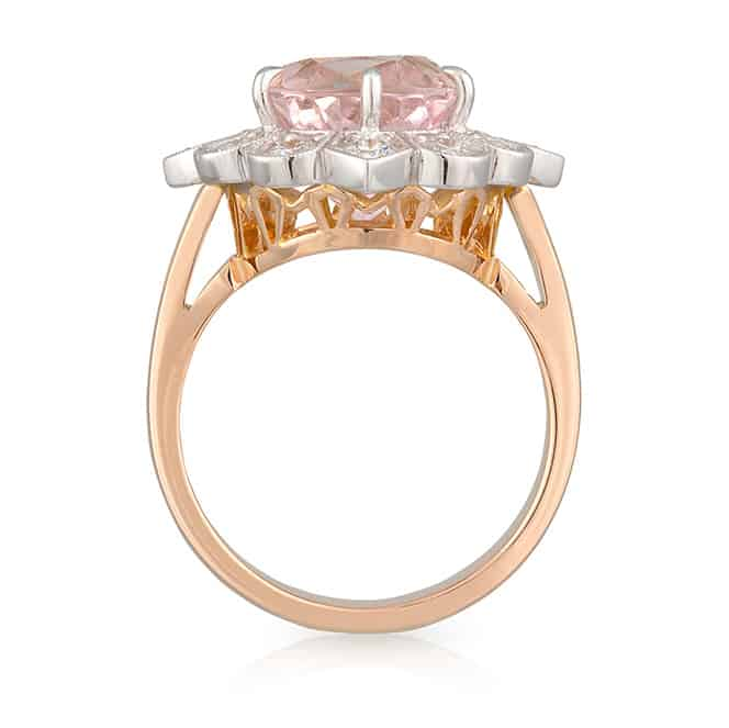 Oval Morganite Diamond Ring