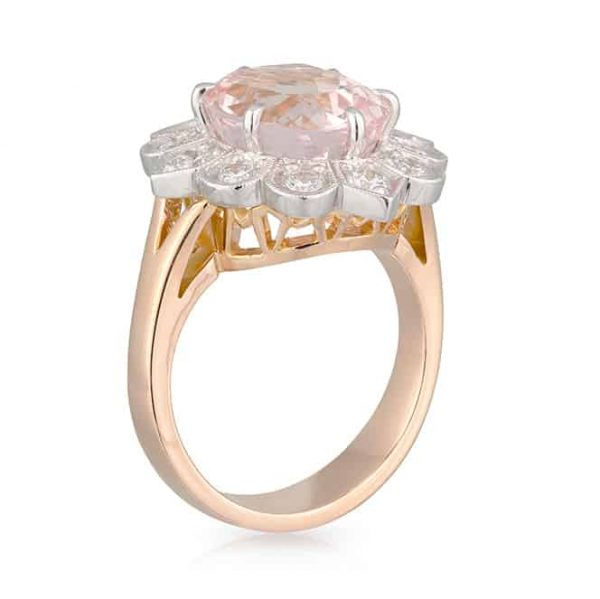 Oval Morganite Diamond Ring
