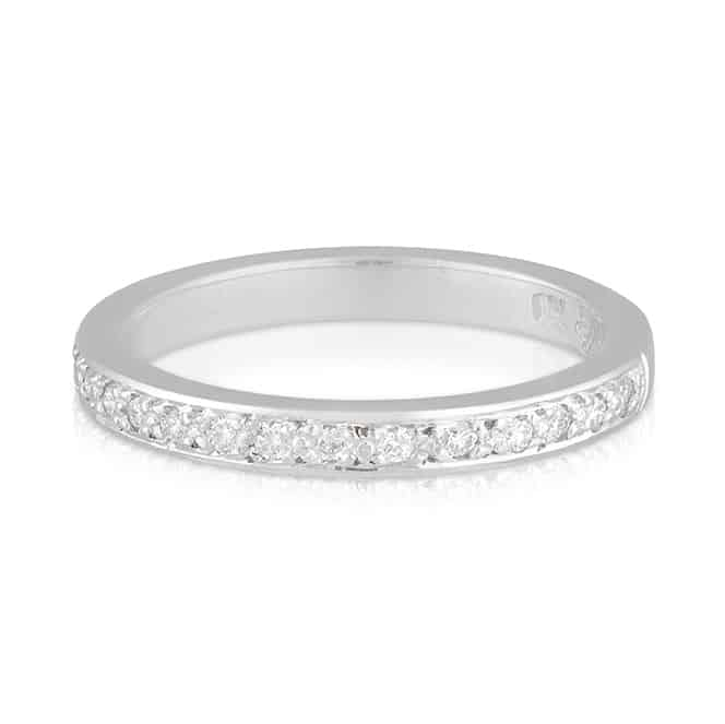 Half Band Diamond Wedder