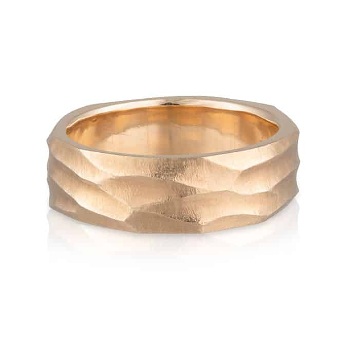 Gents Wedder Yellow Gold Cut Out Ring