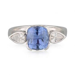 Cushion Sapphire Pear Shoulders Ring