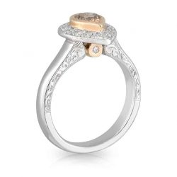 Cognac Tear Drop Ring