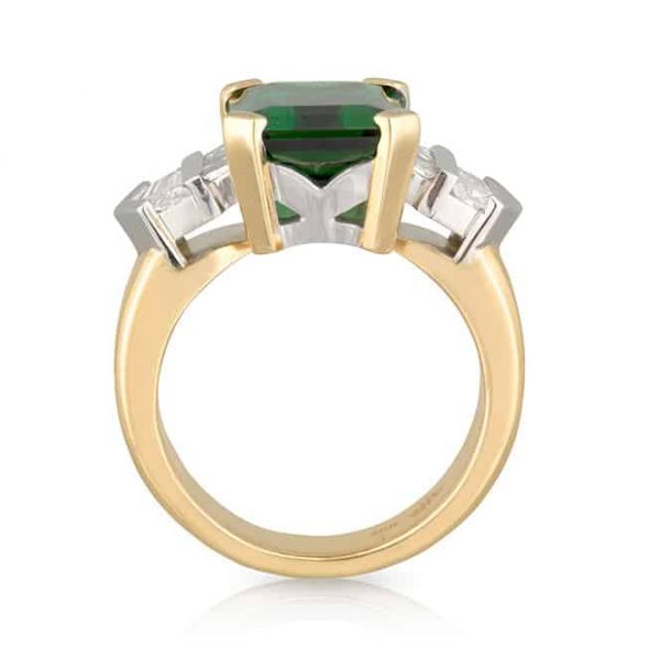 Chrome Tourmaline Gatsby Ring