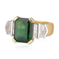 Chrome Tourmaline Gatsby Ring