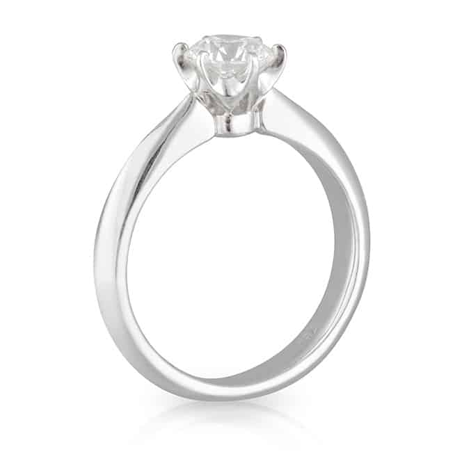 6 Claw Round Brilliant Solitaire Ring