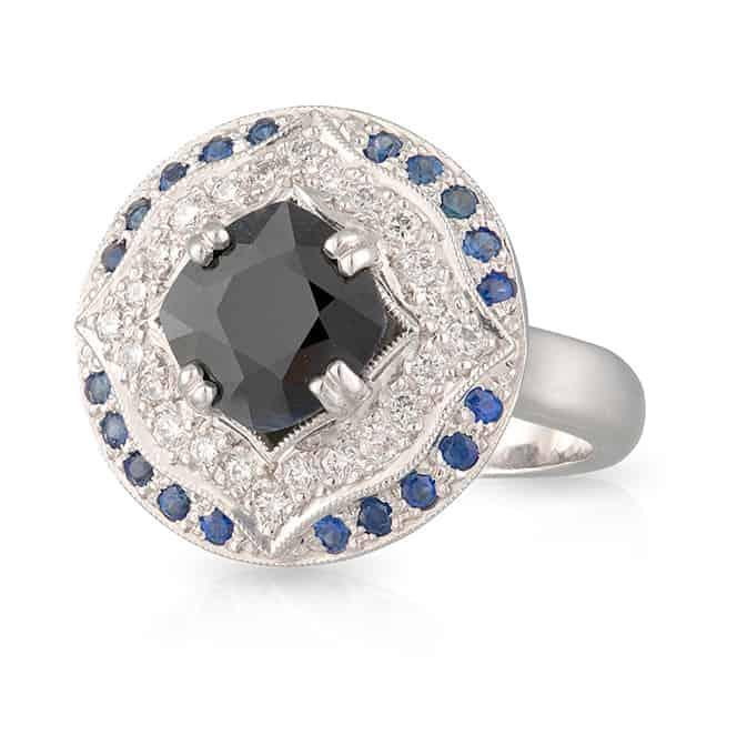 Australian Sapphire Gatsby Ring