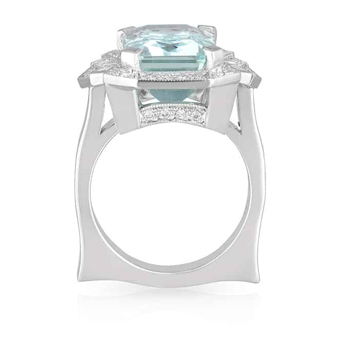Aquamarine Art Deco Ring