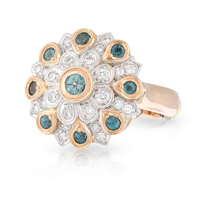 Alexandrite Flower Ring