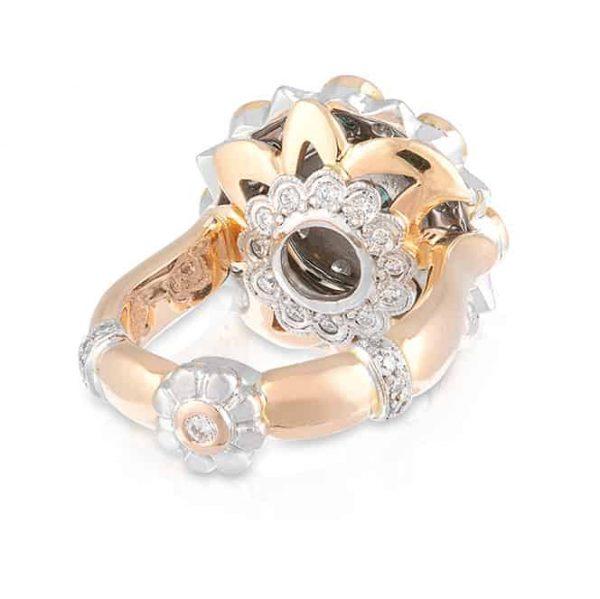 Alexandrite Flower Ring