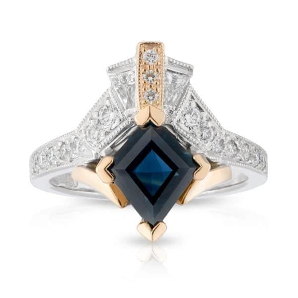 Kite Australian Sapphire Diamond Ring
