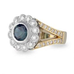 Parti Sapphire Daisy Ring