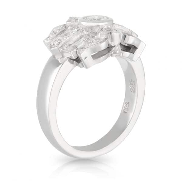 Diamond Sunrise Ring