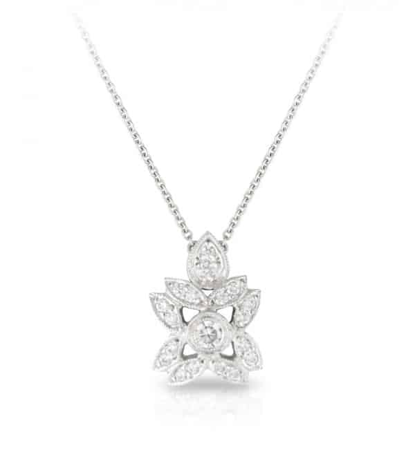 Diamond Art Deco Necklace