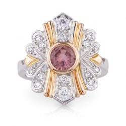 Apricot Sapphire Ring