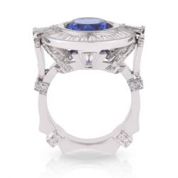 Tanzanite Diamond Dress Ring