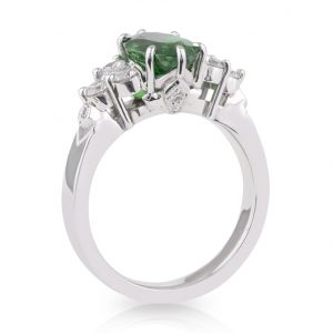 Oval Tsavorite Garnet Diamond Dress Ring